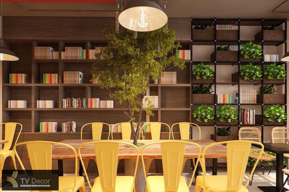 thiết kế thi công quán cafe kem quận 1