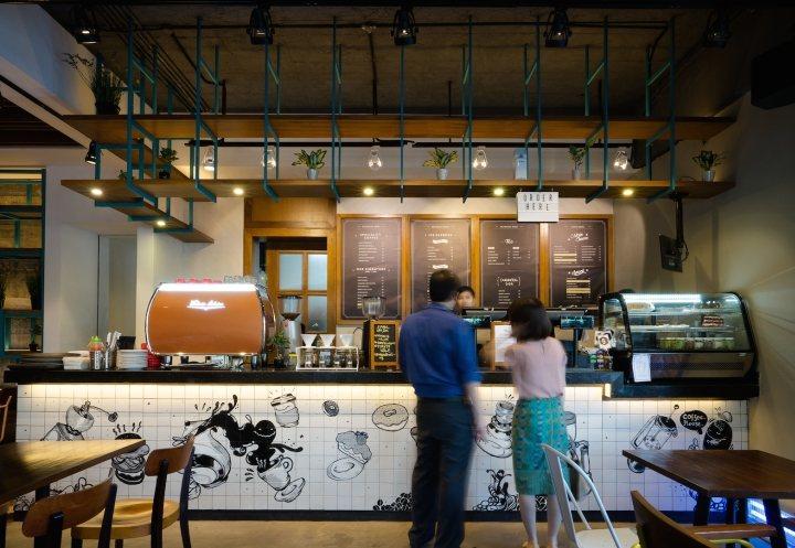 thi  công nội thất cafe coffee đẹp
