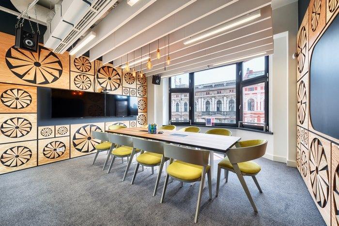 thiết kế nội thất hình vẽ trên tường