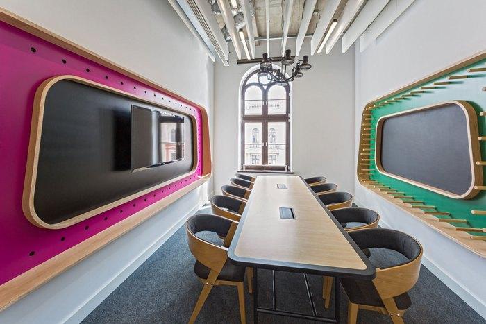 thiết kế màu sắc phòng làm việc hiện đại