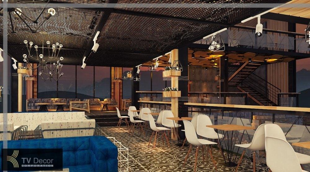 thiết kế nội thất bàn ghế cafe