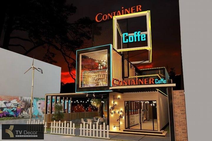 dự án thi công nội thất quán cafe coffee ấn tượng 3