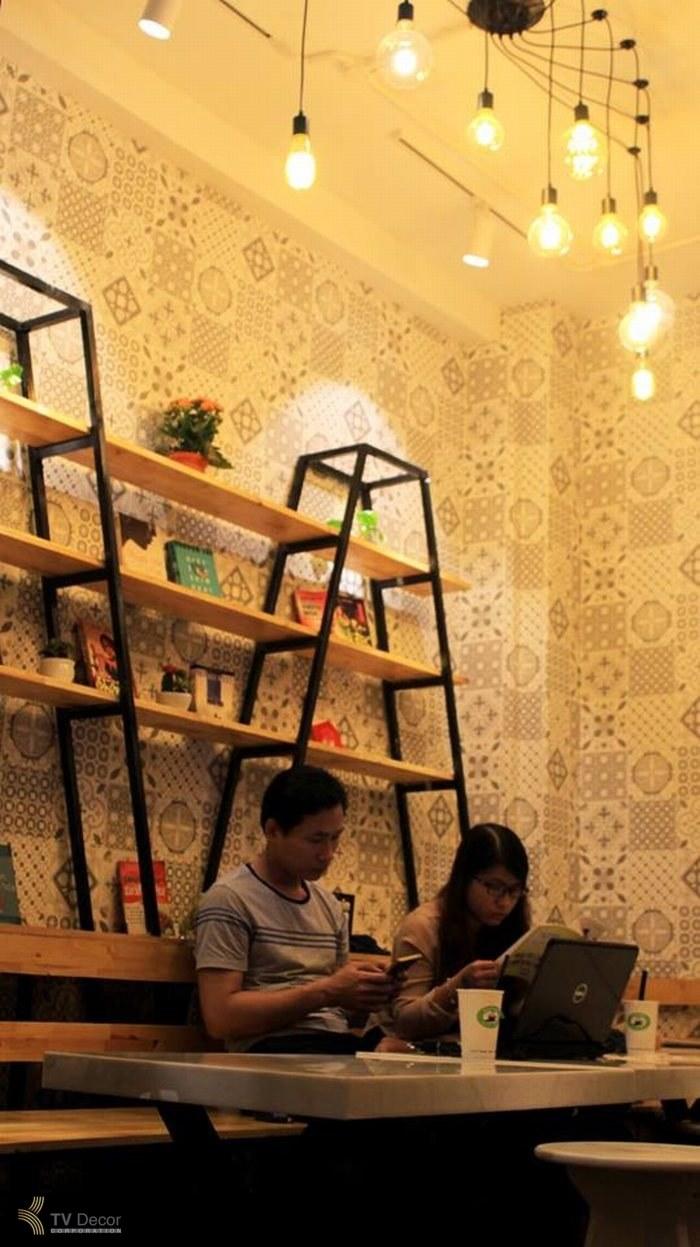 thiết kế thi công nội thất quán cafe GATS BY tea & coffe độc đáo 16