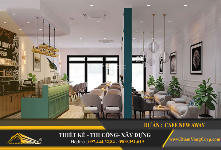 Thiết kế quán cafe đẹp rẻ