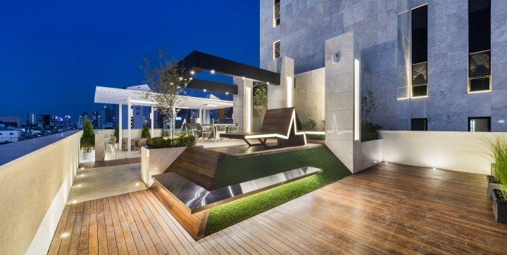 thiết kế thi công ngoại thất hotel hiện đại 1