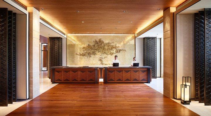 thiết kế nội thất quầy tiếp tân ấn tượng