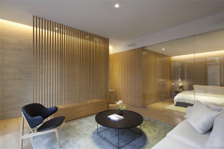 thiết kế nội thất khách sạn gỗ