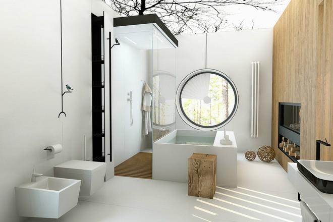 Không gian phòng tắm hoàn hảo với bồn tắm nhập khẩu