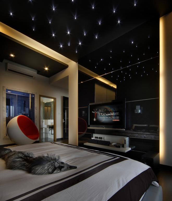 thiết kế thi công phòng ngủ phong cách huyền bí