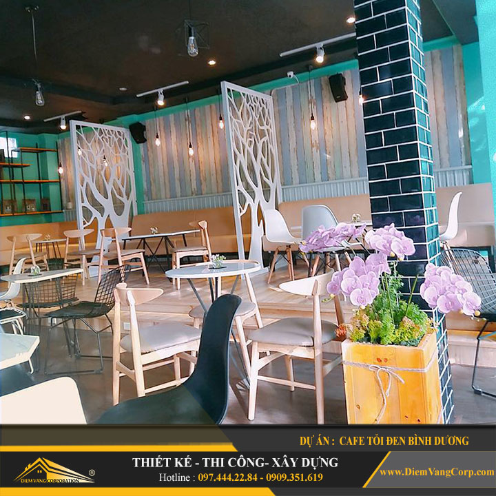 Dự án thiết kế quán Cafe Tỏi Đen-Thủ Dầu Một Bình Dương 10