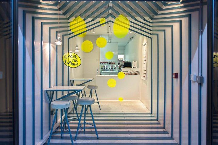 thiết kế quầy quán trà sữa hiện đại