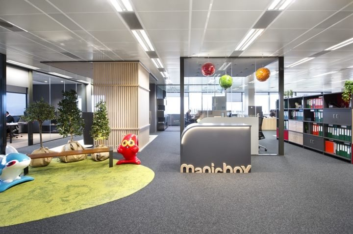 nội thất màu sắc văn phòng độc đáo