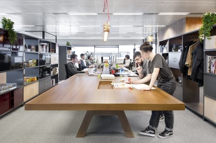 thiết kế các khu vực làm việc hiện đại