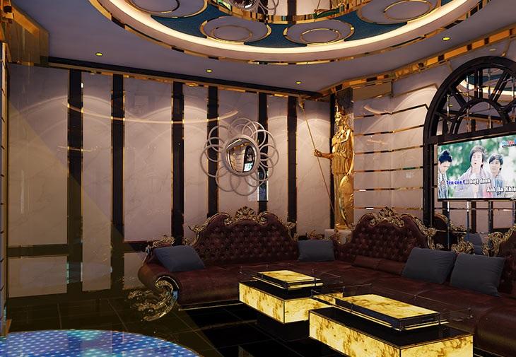 Dự án thiết kế,thi công karaoke,Kiên Lương,Phòng 1 Tân Cổ Điển 1