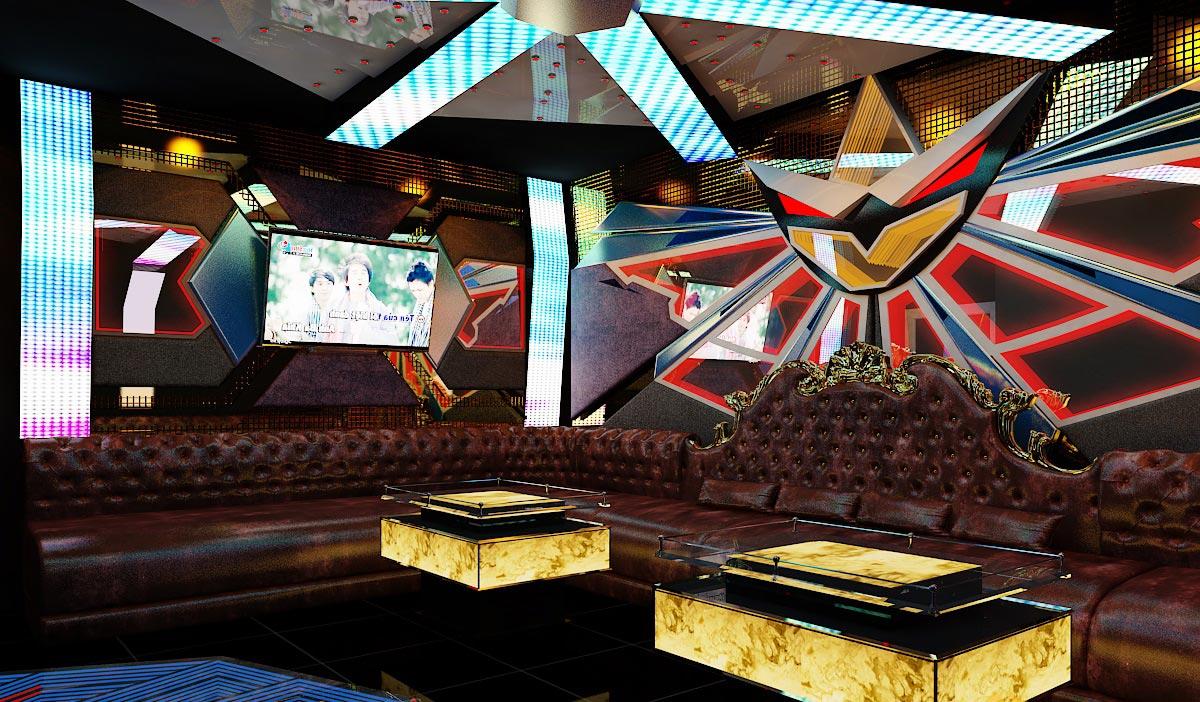 mẫu thiết kế nội thất phòng karaoke phòng 11