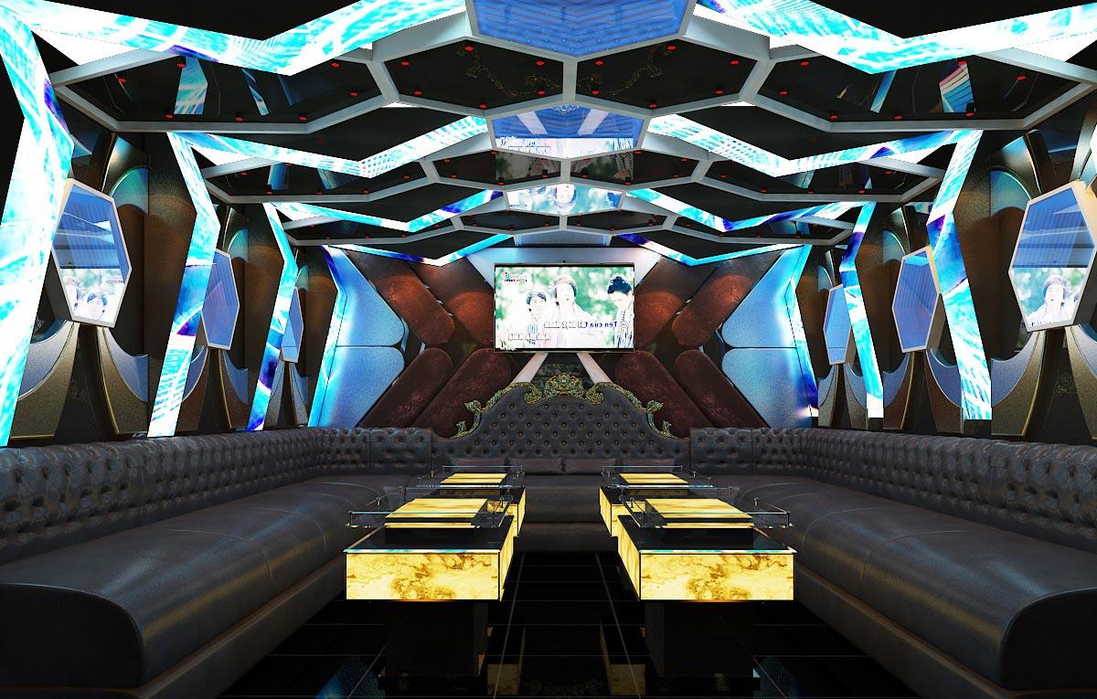 thiết kế nội thất phòng karaoke  phòng 12 1