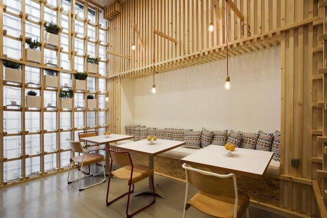 thiết kế quán cafe nội thất gỗ 1